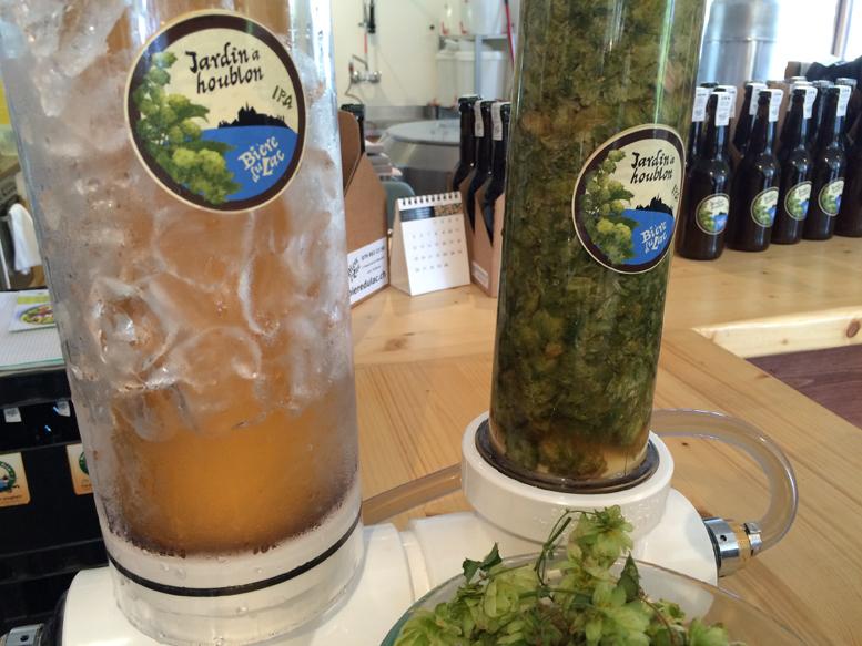 Jardin à Houblon, Bière du Lac, Confignon