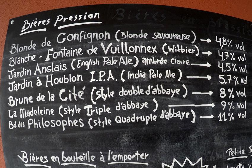 Bière artisanale de Genève
