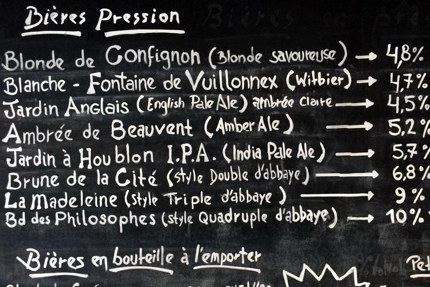 Bière artisanale, Confignon, Genève